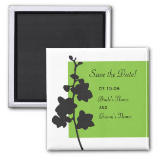 Green Orchid Save the Date Magnet