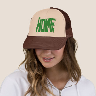 Green Oregon Home state Word Art Trucker Hat