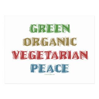 Green Org Veg Peac Postcard