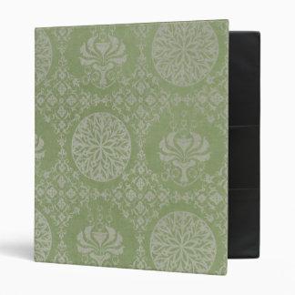 Green Ornamental Pattern 3 Ring Binder