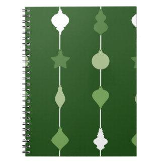 Green Ornaments Spiral Notebook