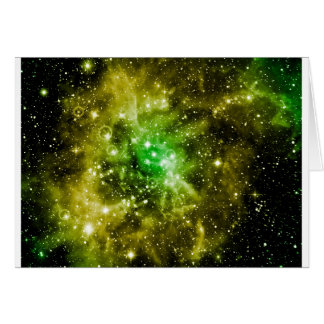 Green Outer Space Card