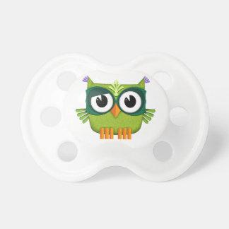 green owl baby pacifier