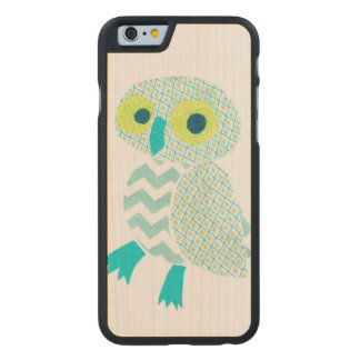 Green Owl Carved® Maple iPhone 6 Slim Case