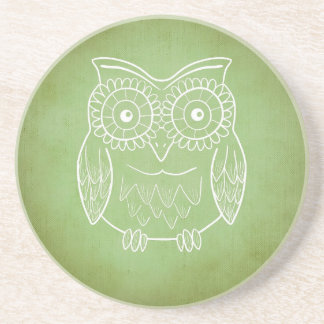 Green Owl Coaster