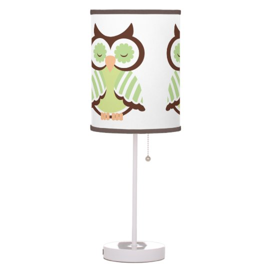 Green Owl Lamp