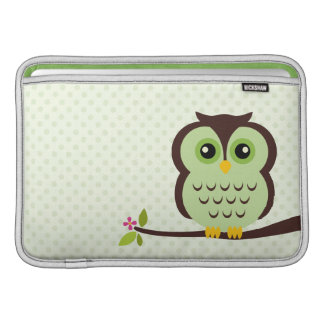 Green Owl Macbook Air Sleeve