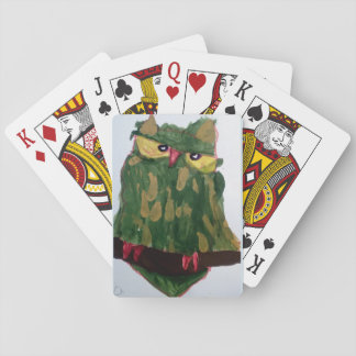 Green Owl Playing Cards