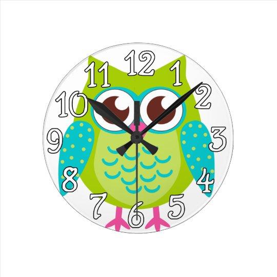 Green Owls Gift Clocks