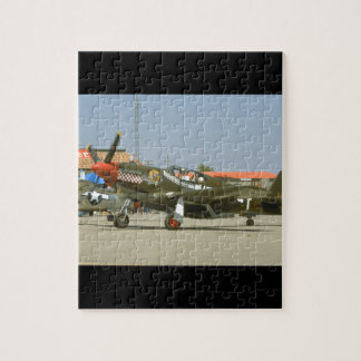 Green P51 Mustang, Left Side_WWII Planes Puzzles