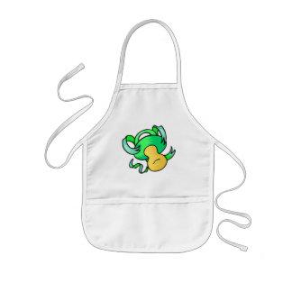 green pacifier kids apron