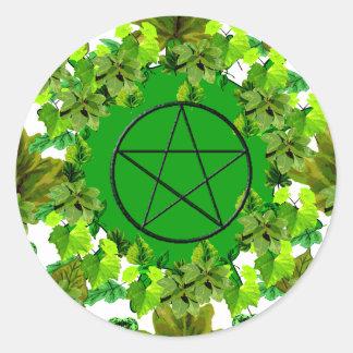 Green Pagan Round Sticker