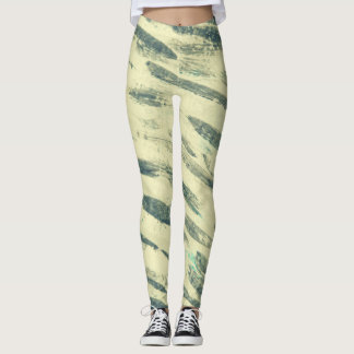 Green Paint Smear Leggings