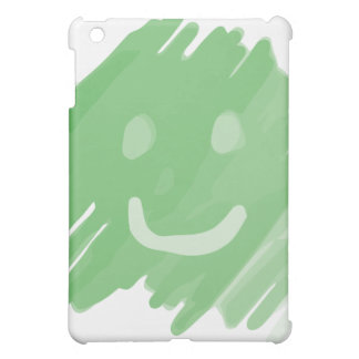 green paint smiley face iPad mini covers