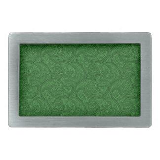Green Paisley Belt Buckle