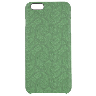 Green Paisley Clear iPhone 6 Plus Case