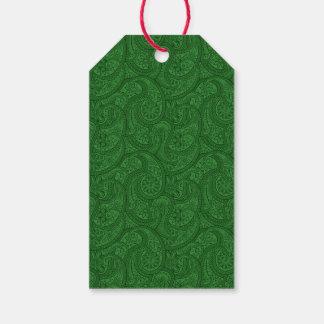 Green Paisley Gift Tags