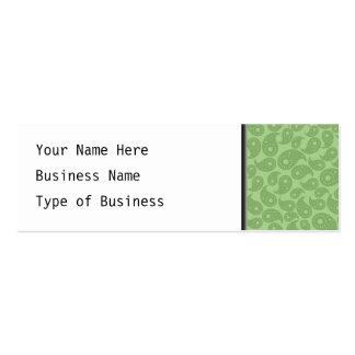 Green Paisley. Mini Business Card
