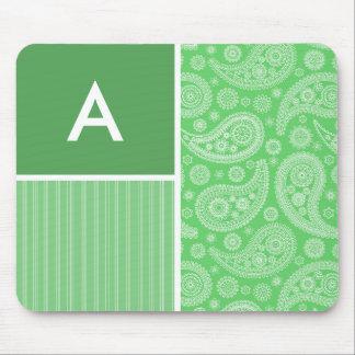 Green Paisley Mouse Pad