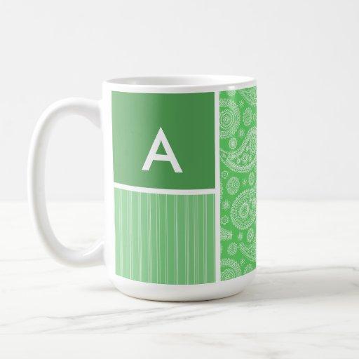 Green Paisley Mugs