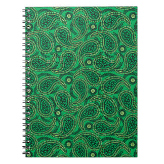 Green paisley notebooks