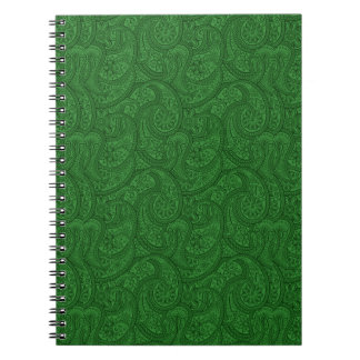 Green Paisley Notebooks