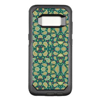Green paisley Samsung Galaxy S8 Otterbox case