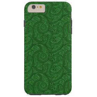 Green Paisley Tough iPhone 6 Plus Case