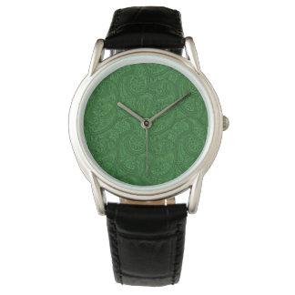 Green Paisley Watch