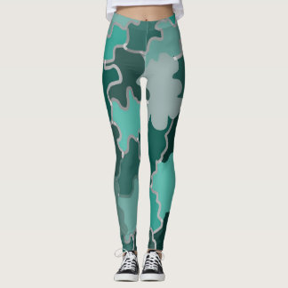 Green Palette Leggings