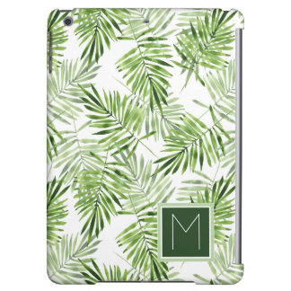Green Palm Leaves | Monogram Case For iPad Air