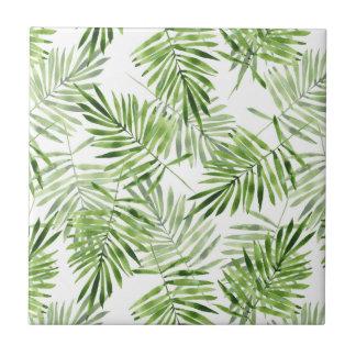 Green Palm Leaves Tile
