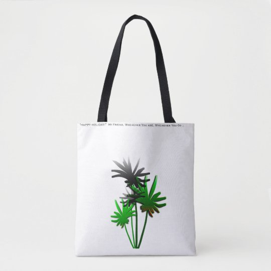 Green Palm Tote Bag