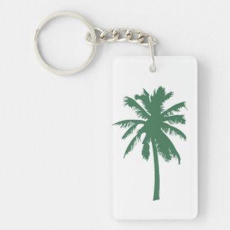 Green Palm Tree Keychain