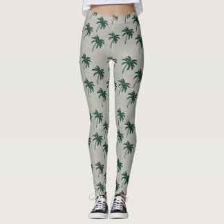 Green Palm Tree Leggings
