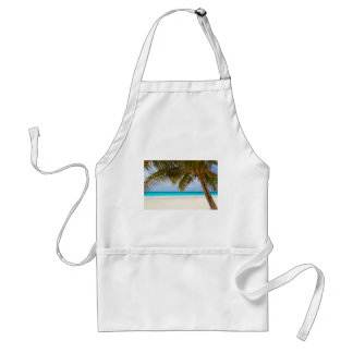 Green Palm Tree on Beach during Daytime Standard Apron