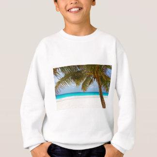 Green Palm Tree on Beach during Daytime Sweatshirt
