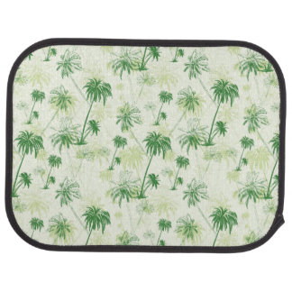 Green Palm Tree Pattern Car Carpet