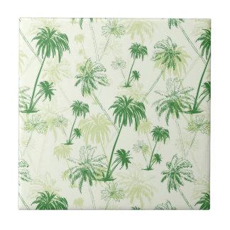 Green Palm Tree Pattern Ceramic Tile