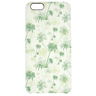 Green Palm Tree Pattern Clear iPhone 6 Plus Case
