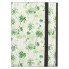 Green Palm Tree Pattern iPad Air Cover