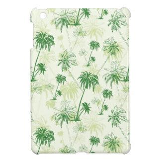 Green Palm Tree Pattern iPad Mini Cover