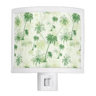 Green Palm Tree Pattern Nite Lites