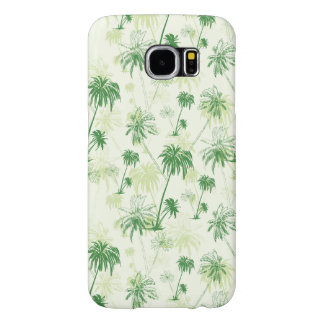 Green Palm Tree Pattern Samsung Galaxy S6 Cases