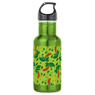 Green Palm Tree Pattern Stainless Steel Bottle