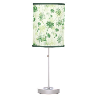 Green Palm Tree Pattern Table Lamp
