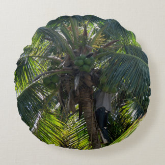 green palm tree throw pillow