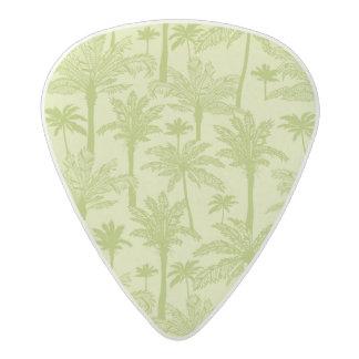 Green Palm Trees Pattern Acetal Guitar Pick