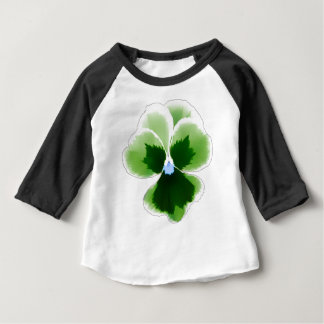 Green Pansy Flower 201711d Baby T-Shirt