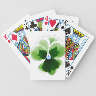 Green Pansy Flower 201711d Bicycle Playing Cards